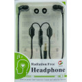 Air Tube, Anti-radiation Earphones, Black ABS plastic finish, Stereo, 3.5mm jack from IBrain.